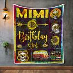 Mimi Of The Birthday Girl Mom Sunflower Gifts sunflower skulls Quilt