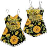 Daddy birthday girl hippie sunflowers seamless Romper