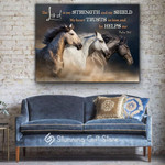 Lord Strength shield Trusts Helps Horse poster gift for birthday motivation anniversary personalized custom name date