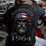 Old man club est 1964 old man usa flag birthday t-shirt gift for grandpas American Tshirt