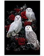 The Owl Family Mysterious Roses Garden Poster Gift For Owl Lovers Owl Moms Roses Lovers Poster