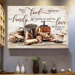 Bless The Food Before Us The Love Between Us The Family The Lover Poster Canvas Best Gift For Food Lovers Poster