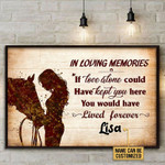 In Loving Memories If Love Alone Could Have Kept You Here Personalized Riding Horse Poster Canvas Gift For Family Couple With Custom Name Poster