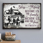 Bless The Food Before Us The Family Beside Us Farm Cow Poster Canvas Gift For Farmer Poster Poster