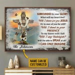 Surrounded By Your Glory What Will My Heart Feel Personalized Christian Cross Poster Canvas Gift For Family Old Couple Poster Poster