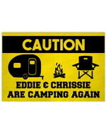 Caution Personalized Name Couple Are Camping Again Funny Poster Canvas Gift For Camping Fans Poster