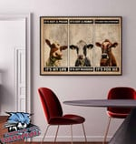 Cow It's not a phase It's my life It's not a hobby It's my passion It's not everyone It's for me canvas wall decoration poster canvas