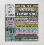 To My Wife Never Forget That I Love You Missing You Is My Hobby Your Husband