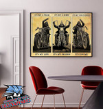 Man Motorcycle It's not a phase it's my life it's not a hobby it's my passion Canvas Wall decoration poster canvas