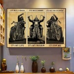 Biker it's not phase it's my life it's not hobby it's my passion it's not for everyone it's for me poster canvas