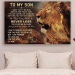 Lion Dad To Son Never Lose Holidays Son To Son With poster canvas