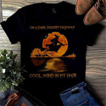 On A Dark Desert Highway Cool Wine In My Hair Witch Moon T-Shirt Gift For Halloween Holiday Lovers Tshirt