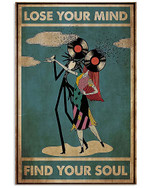 Jack skellington and sally lose your mind find your soul music vinyl heads halloween poster gift for jack skellington music lovers Poster