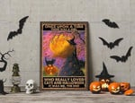 Once upon a time There Was A Girl Who Really Loved Cats and Halloween poster poster canvas