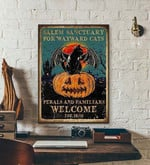 Salem Sanctury For WayWard Cats Feral and Familiar halloween poster poster canvas