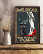 Cat Halloween Salem Sanctuary For Wayward Cats Vertical Poster Canvas poster canvas