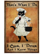 Witch That's What I Do I Cook I Drink And I Know Things Poster Canvas Halloween Day Gift Poster