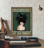 Hello Darkness My Old Friend halloween poster poster canvas
