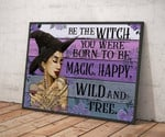 Halloween Witch - Color Pallet Be The Witch Horizontal Poster Canvas poster canvas