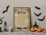 To be A Witch List halloween poster poster canvas