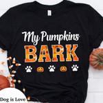 My Pumpkins Bark Dog Paw Halloween