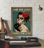 And She Lived Happily Ever After halloween poster poster canvas
