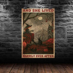 Halloween Witches She Lived Happily Ever After Poster Canvas Poster Canvas