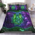 Green Galaxy Dragon Art Quilt Bedding Set MT0602-17