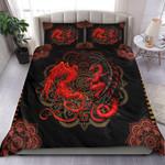 Red Mandala Dragon Quilt Bedding Set MT0602-13