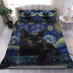 Black Cat Starry Night Quilt Bed Set Block Of Gear™ VV0602-01