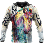Love Horse 3D All Over Printed Shirts MT1002-01