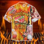 Wanna Rub My Meat Funny Barbecue Hawaiian Shirt MT0803-02