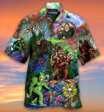 Hippie Bigfoot, Keep It Wild And Free Short Sleeve Shirt MT1003-02-HW