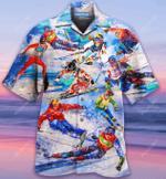 Keep Calm And Go Skiing Hawaiian Shirt  AT0705-02