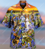 Rabbits In A Bluebonnet Field Hawaiian Shirt  AT1205-03
