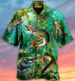 Musky Fishing - Weekend Hooker Hawaiian Shirt AT1505-02