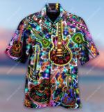 Colorful Kaleidoscope Guitar Hawaiian Shirt AT2505-06
