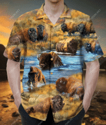 Stand Your Ground Roam Wild And Free Bison Hawaiian Shirt AT2805-04