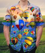 Hot Air Balloon Landing In A Bluebonnet Field Hawaiian Shirt AT0306-02