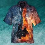 GUITAR FIRE & WATER HAWAIIAN SHIRT  AT0306-07