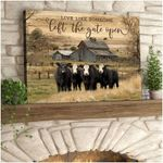 Ohcanvas Live Like Someone Left The Gate Open Cows Canvas Wall Art Decor AT1806-09