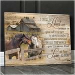 Custom Canvas Prints Personalized Gifts Wedding Anniversary Gifts I Cross My Heart Couple Loving Horses and Country Barn Wall Art Decor Ohcanvas AT1806-10