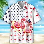 Famille - Flamingo Hawaiian Shirt 2  AT2406-10