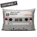 CASSETTE TAPE GREY - THROW PILLOW- AT2207-03