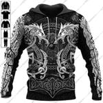 Fenrir Viking Tattoo Style 3D All Over Printed Apparel 3008-02