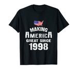 Make America Great Since 1998 20th Year Old 20 Birthday Gift