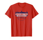 Vintage Washington DC Cityscape Skyline Baseball Banner Tee