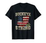 Ohio Buckeye Strong Ohio USA Flag Overlay
