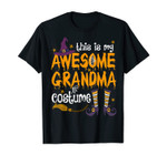 This Is My Awesome Grandma Costume Witch Halloween Tee
