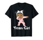Gender Reveal Party Team Girl Cute Dabbing Black Baby Tee